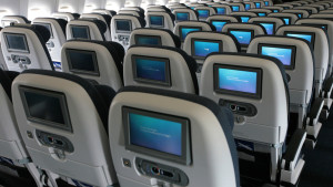 British Airways World Traveller economy class
