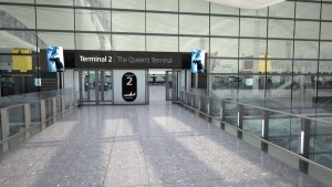 Heathrow T2 exterior signage