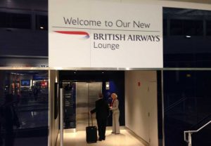 British Airways Washington lounge entrance