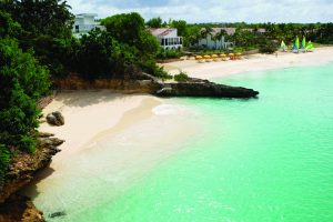 Secret beach at the Malliouhana hotel, Anguilla