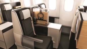 Swiss Business class cabin seat