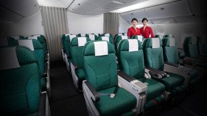 Cathay Pacific Premium Economy Class seating arrangement