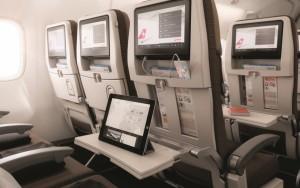 Swiss B777-300ER Economy class cabin
