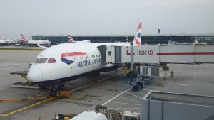 British Airways B787-9 from the air bridge (
