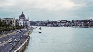 View from The Chain Bridge, Budapest