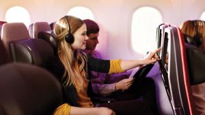 Virgin Atlantic Boeing 787-9 Economy in-flight entertainment