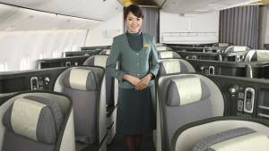 EVA Air business class flight attendant