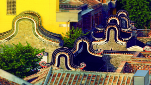 """Wingnut"" rooftops in Foshan, China"
