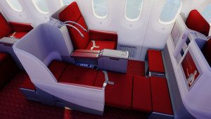 Hainan Airlines Boeing 787-8 Dreamliner Business Class flatbed