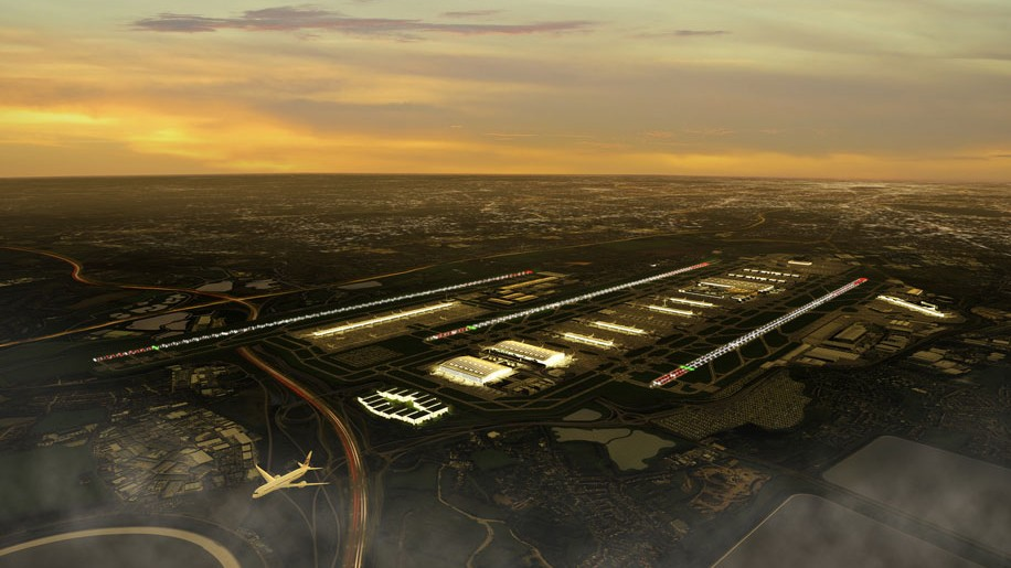 Heathrow third runway rendering