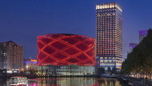 Wanda Reign Wuhan exterior and Han Show Theatre