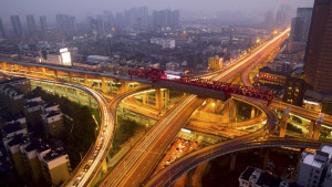 Expressway in Changsha, Hunan province, China