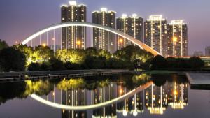 Qin bridge in Ningbo, Zhejiang province, China