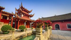 Yongquan Temple on Drum Mountain, Fuzhou, Fujian province, China