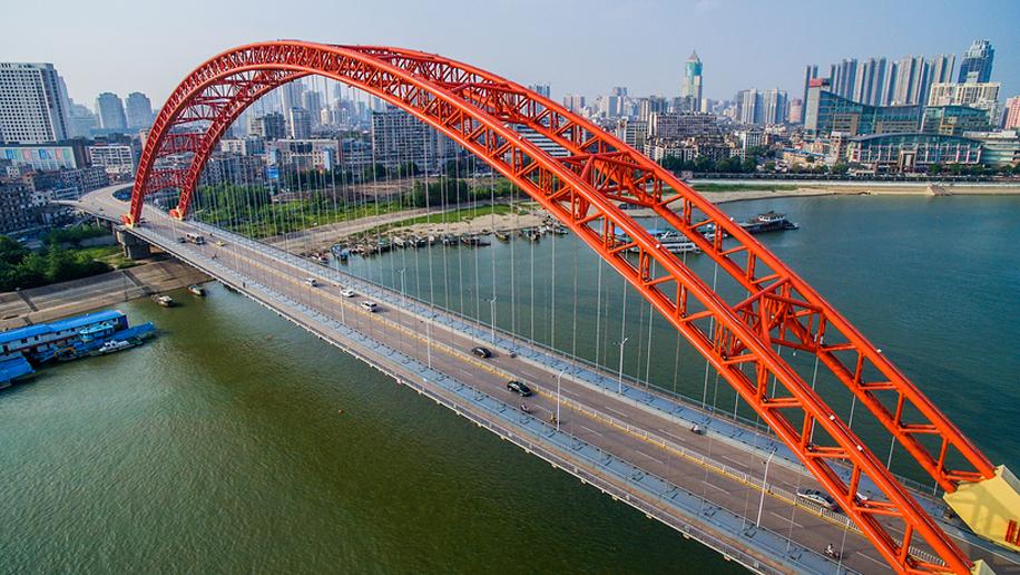 Qingchuan Bridge in Wuhan china
