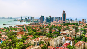 Elevated View of Qingdao City