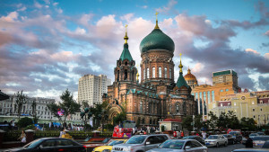 Saint Sophia Cathedral in Harbin, Heilongjiang province, China