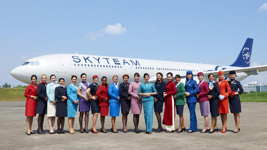 skyteam flight attendants