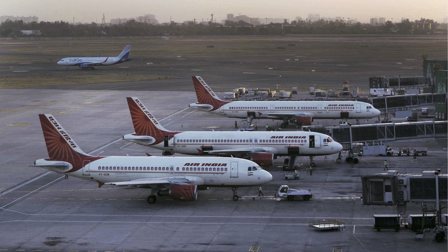 Air India aircraft at DIAL