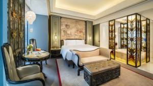 Wanda Reign on the Bund Shanghai Deluxe King Bed