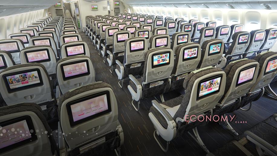 EVA Air B777-300ER economy class