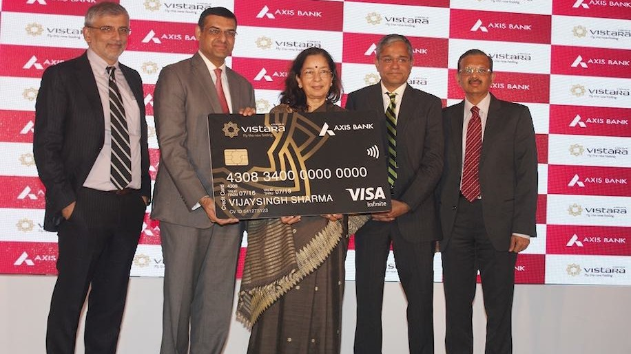Vistara partners with axis bank for co branded credit card vistara colourmoves