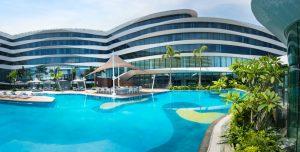 Conrad Manila's swimming pool