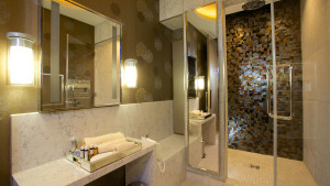 United Club lounge shower suite at London Heathrow Terminal 2