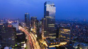 Four Seasons Jakarta hotel exterior night