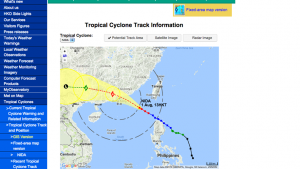Typhoon Nida tracking map on August 1, 2016