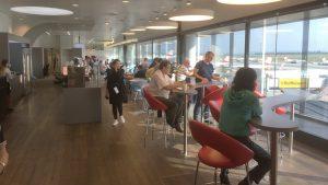 Austrian Airlines business class lounge Vienna non-Schengen area