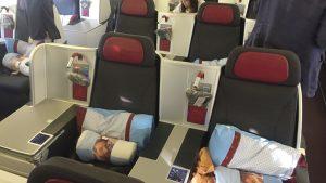 Austrian Airlines B777-200 business class seats