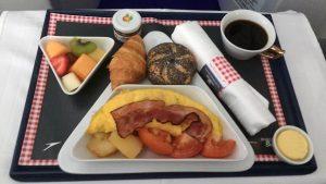 Austrian Airlines business class breakfast