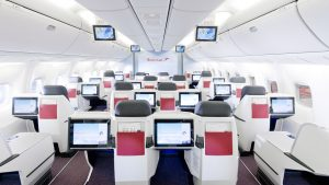 Austrian Airlines long-haul business class 1-2-1 configuration © Claudio Farkasch