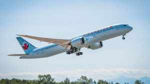 Air Canada 787-9 Dreamliner takeoff