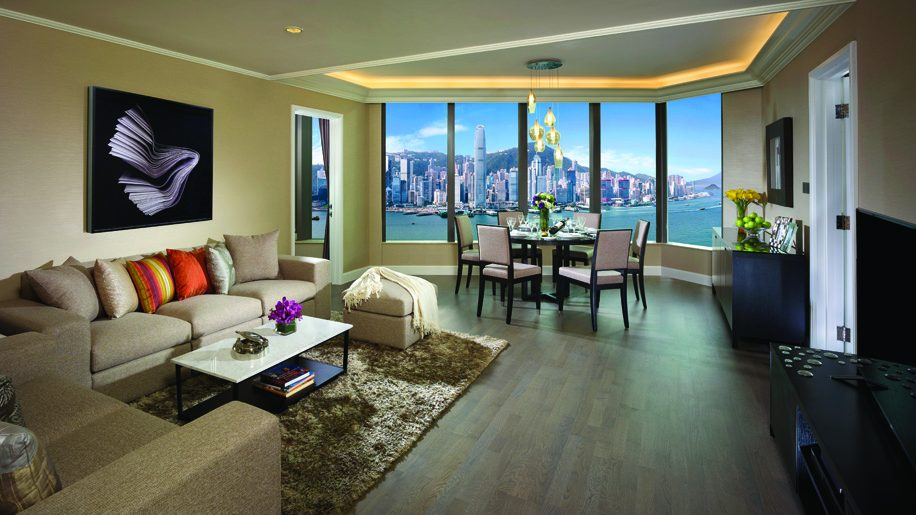 Gateway Apartments Hong Kong 2 Bedroom Living Room