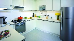 Gateway Apartments Hong Kong 2-bedroom kitchen