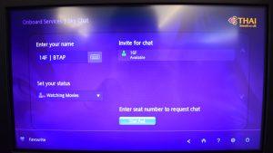 Thai Airways A350 Skychat