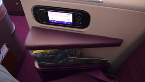 Thai Airways A350 side compartment
