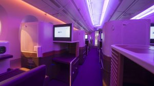 Thai airways A350 business cabin