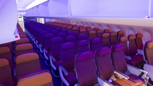 Thai Airways A350 economy cabin