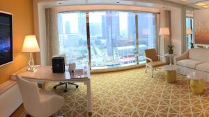 Wynn Palace Macau Fountain suite living room