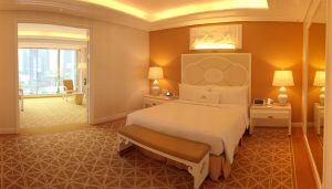 Wynn Palace Macau Fountain suite in yellow
