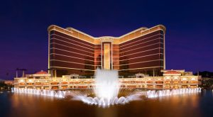 Wynn Palace Exterior across Performance Lake