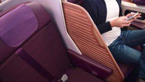Thai Airways A350 business class partition