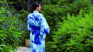 A Wellspring by Silks hotel guest goes wandering clad in indigo
