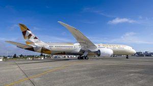 Etihad B787 aircraft