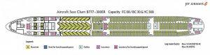 Jet Airways B777-300 seatplan