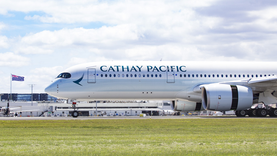Cathay Pacific's first A350-900 to New Zealand arrives in Auckland
