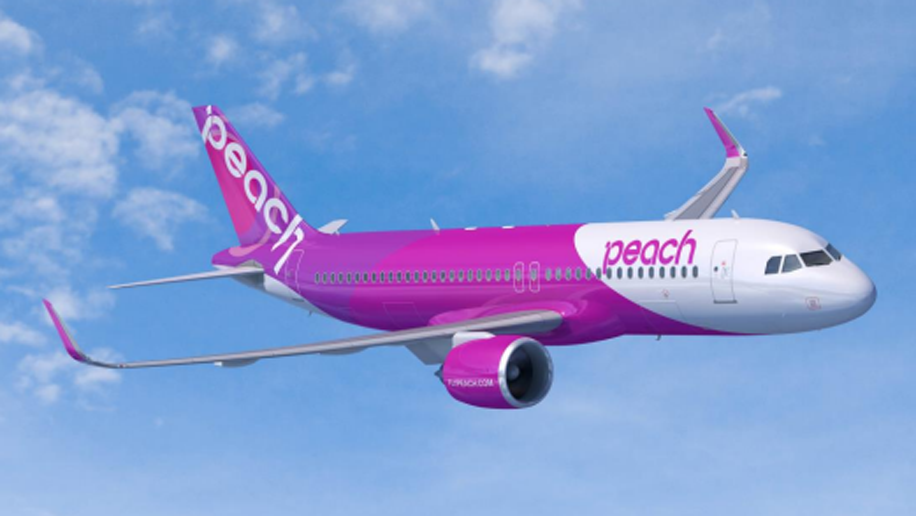 Peach Aviation's new A320neo, expected to be received in 2019